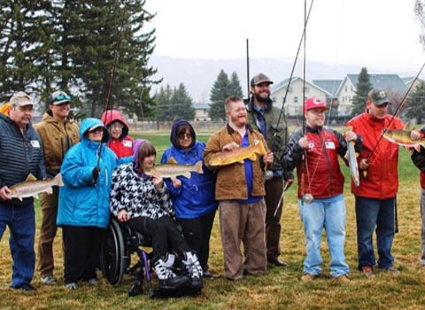 Jackson Community Entry Services welcomes the JHFFS team for a day of fly fishing fun and education.